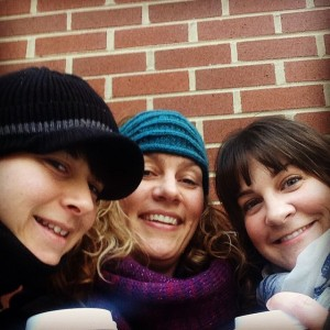 Anne-Marie, Lisa, and me - coffee and selfies before the workshops