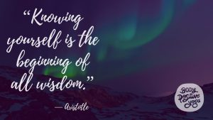 """Knowing yourself is the beginning of all wisdom."""